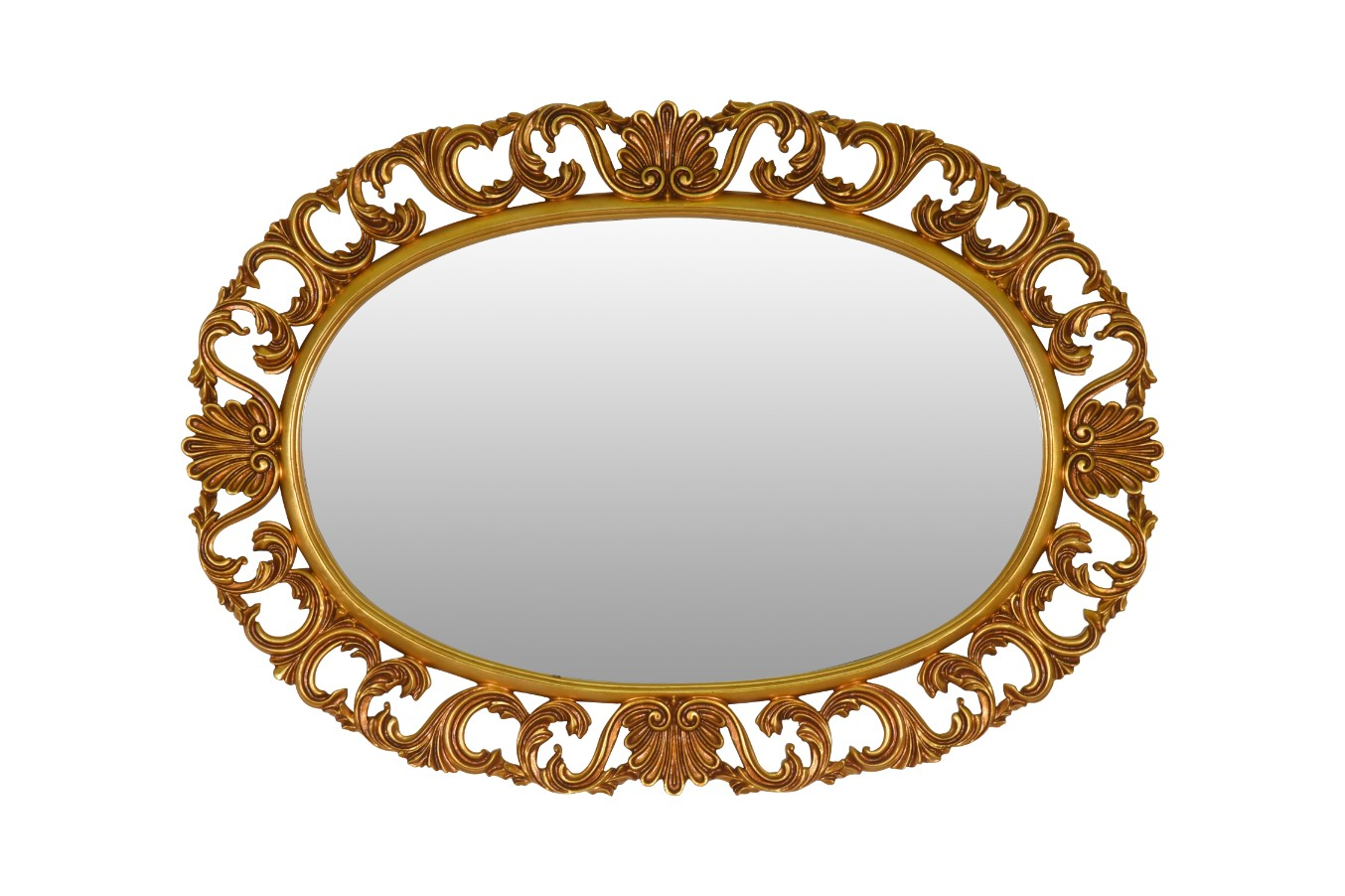 Coquelicot,French Style Gold Leaf Wall Mirror