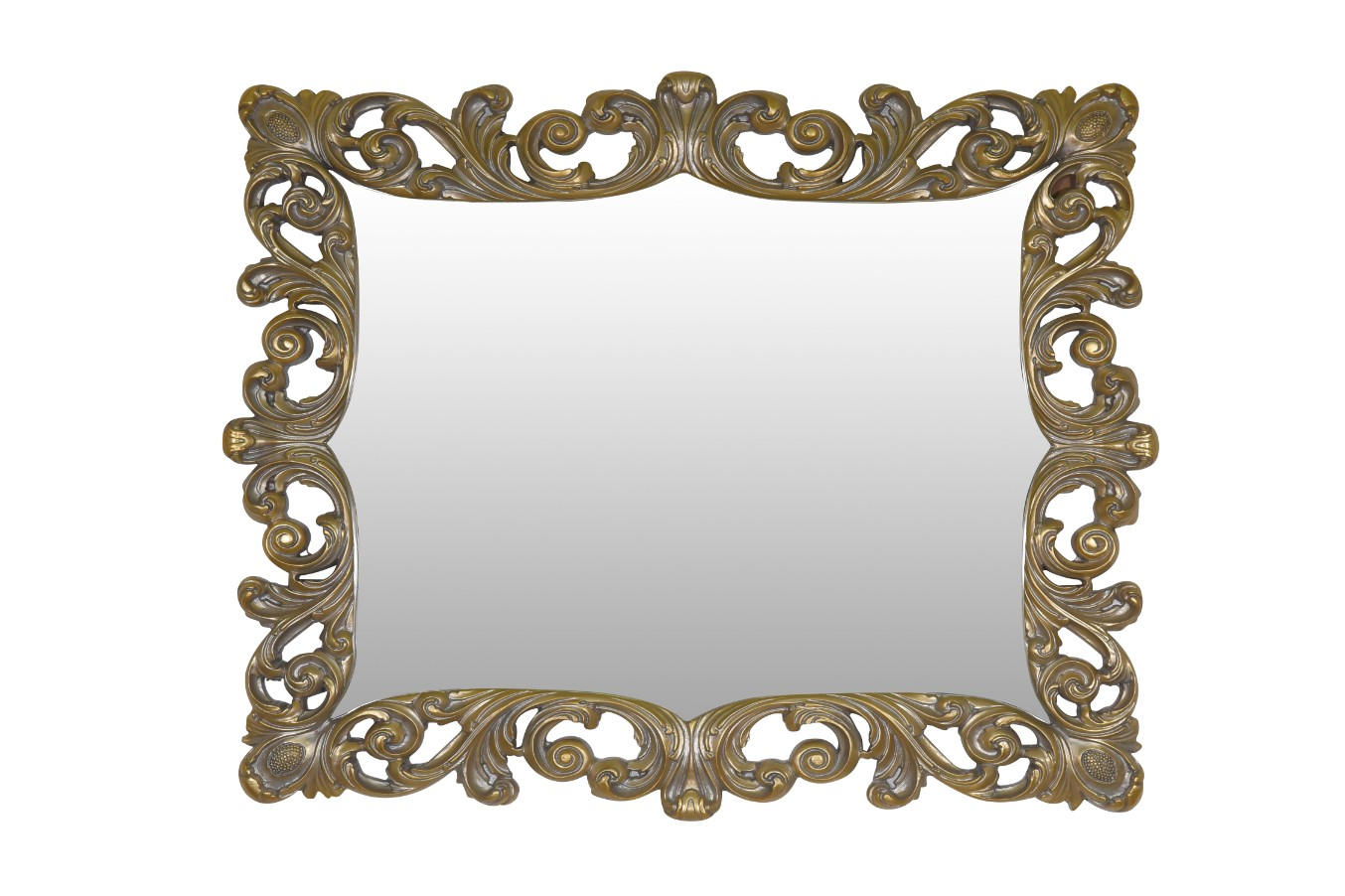 Pois de senteur, French Style , Gold Leaf , Aged Powdered Finish, Wall Mirror