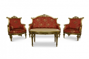 Eglantine Giltwood Living Room Set