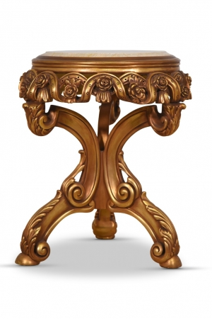 Rose trémière Giltwood Table