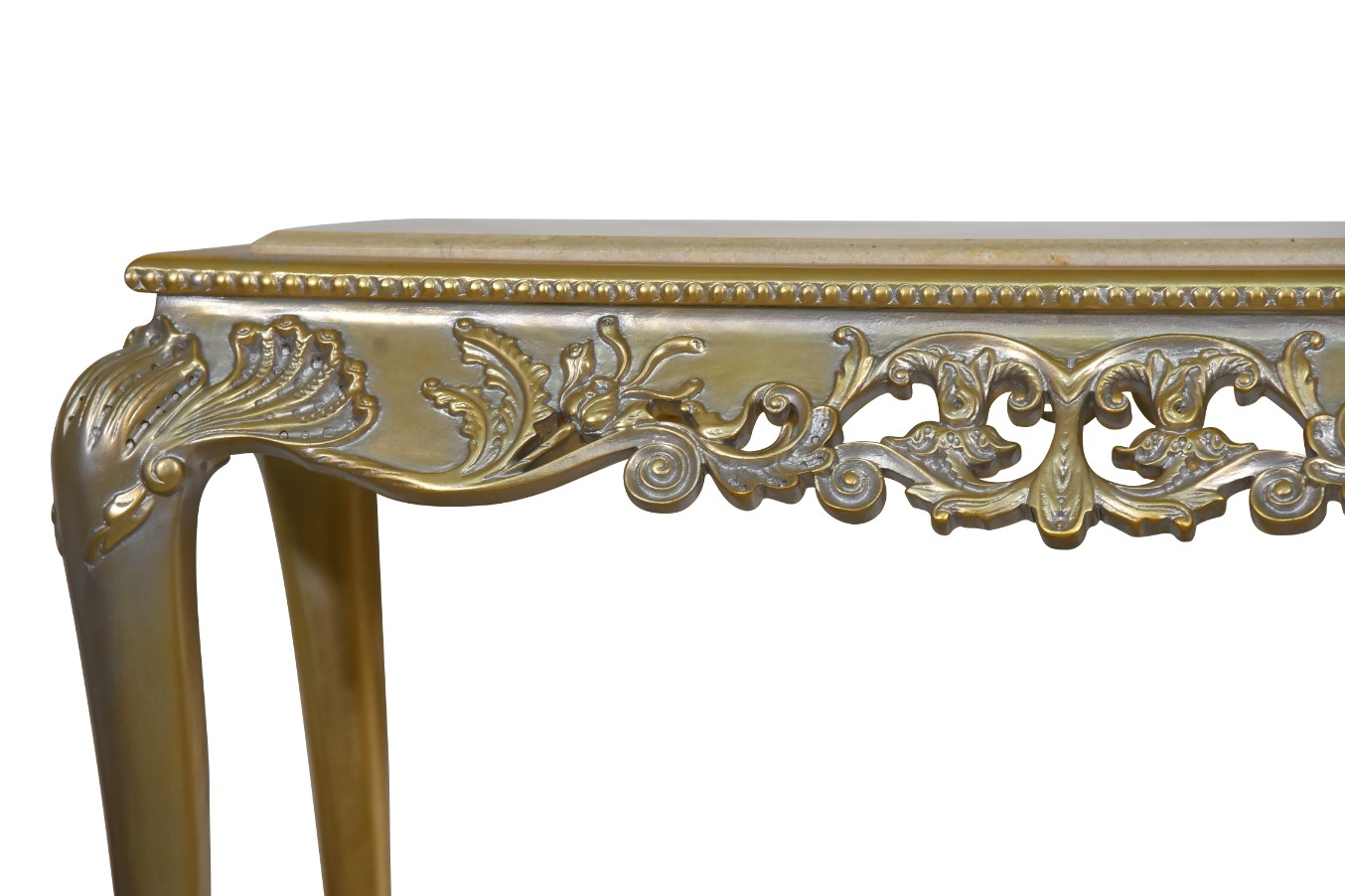 MADE TO ORDER / Jasmin de Virginie,French Style, Gold Leaf, Marble Top, Console and Mirror Set