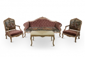 Tufted velvet Living Room Set