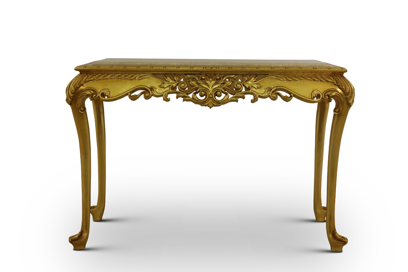 MADE TO ORDER / Genévrier Console,French Style, Gold Leaf, Marble Top, Console and Mirror Set