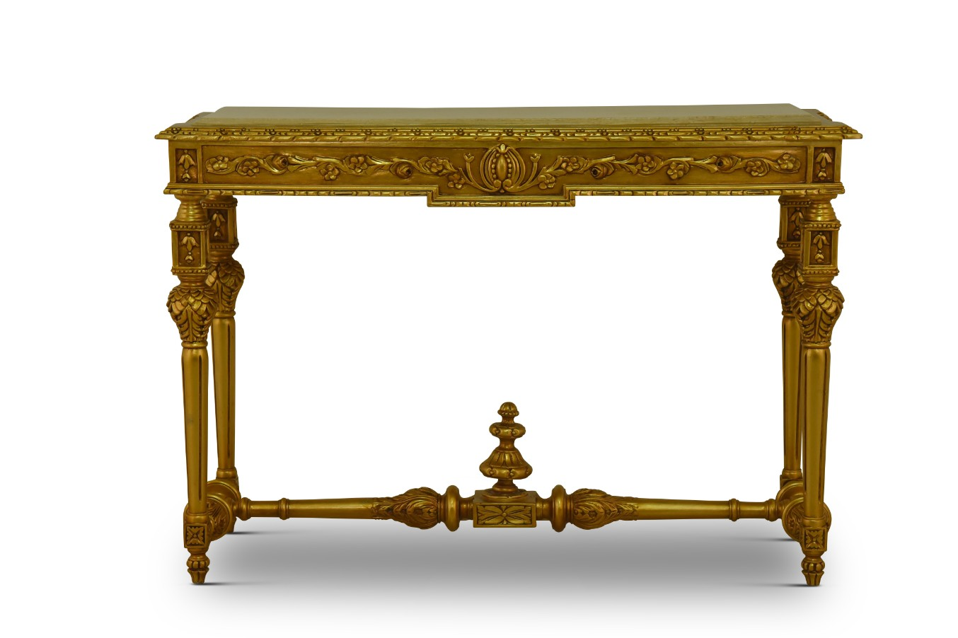 MADE TO ORDER / Hyacinthe d'Orient,French Style, Gold Leaf, Marble Top, Console and Mirror Set