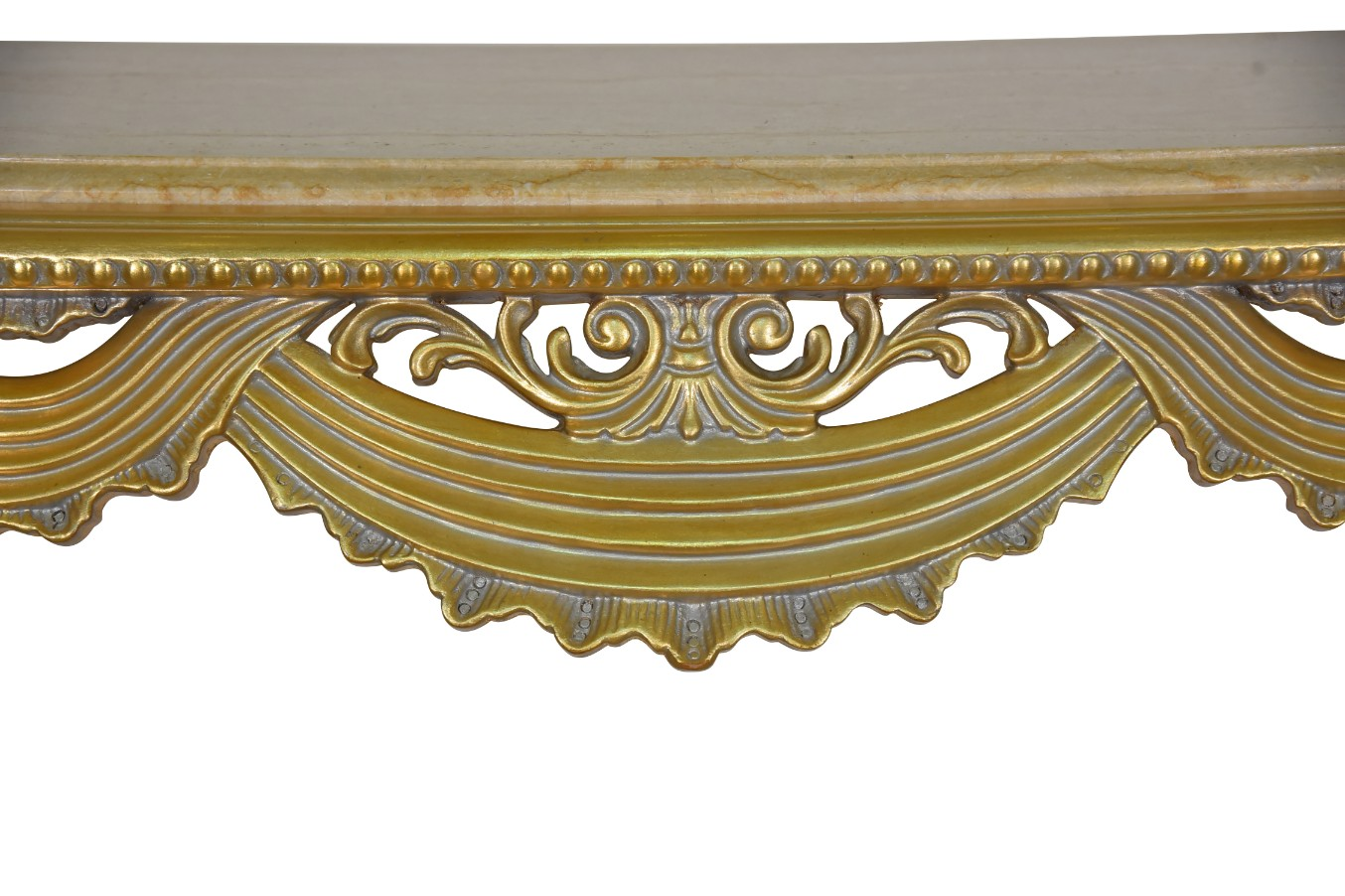 MADE TO ORDER / Staticé maritim,French Style, Gold Leaf, Marble Top, Console and Mirror Set