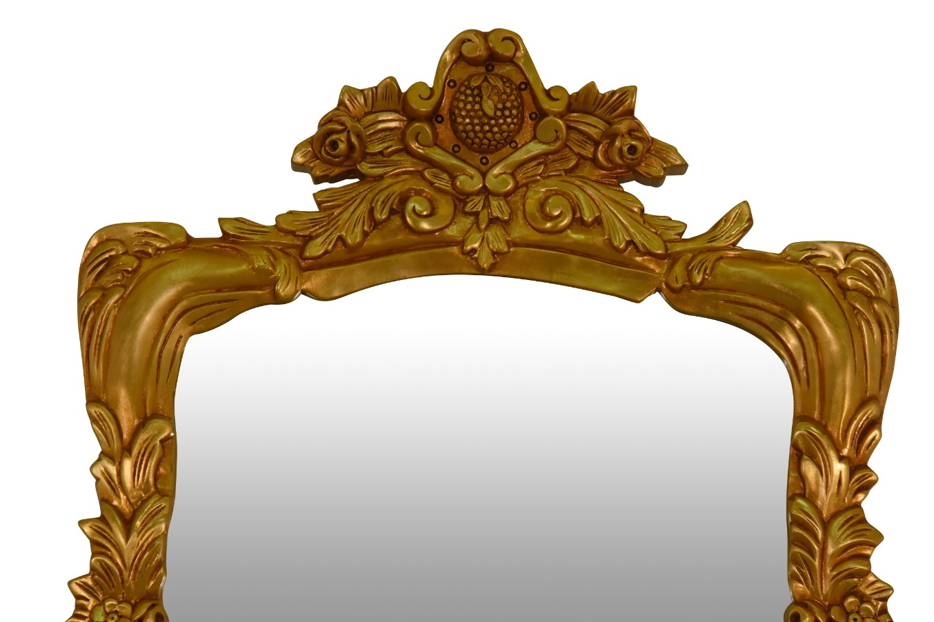 MADE TO ORDER / Rose panachée, French Style, Gold Leaf, Marble Top, Console and Mirror Set