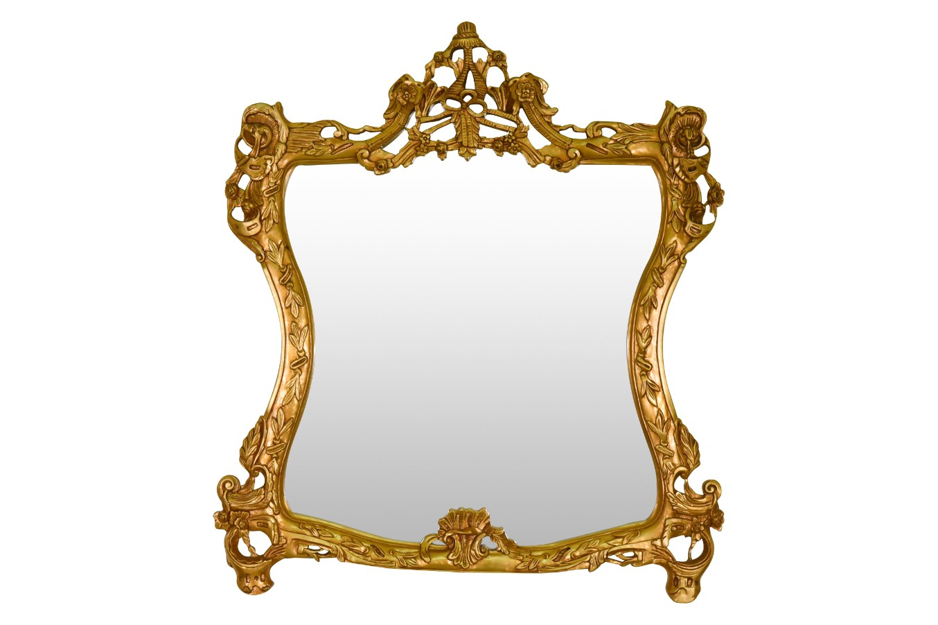 MADE TO ORDER / Nélumbo,French Style, Gold Leaf, Marble Top, Console and Mirror Set