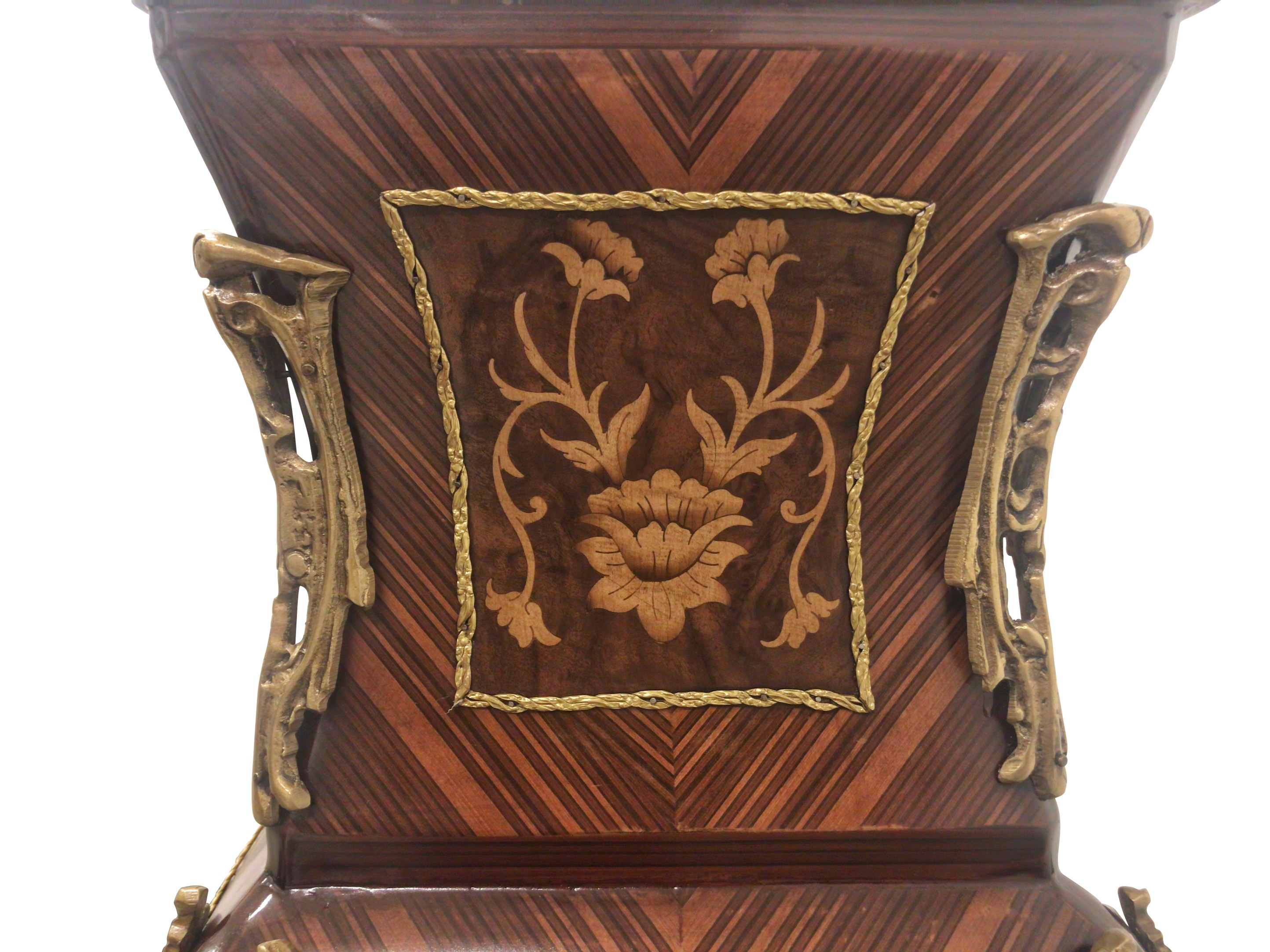 Hélénie d'automne, French Style , Marquetry Art , Solid Bronze Trims, Marble Top ,Wood Pedestal (Set of 2)