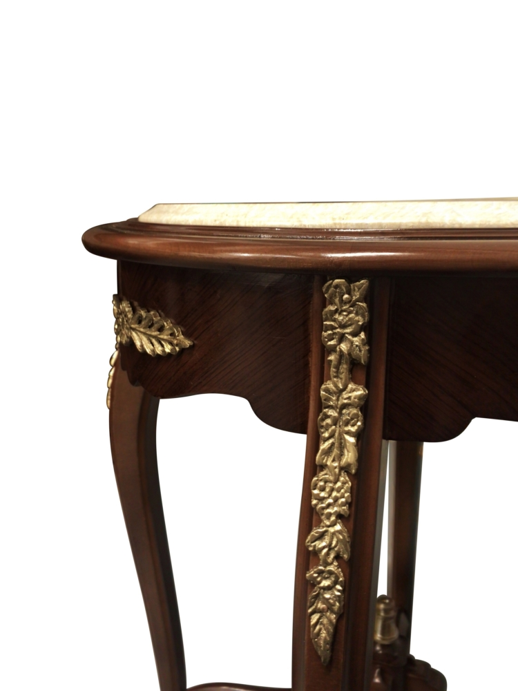 Hyacinthe étalée, French Style ,Beech wood, Brown Mahogany ,Marble Top, Table