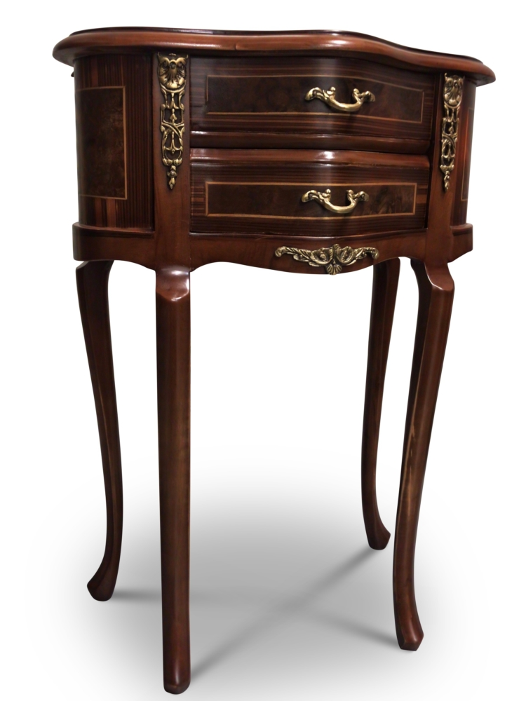 Guimauve, French Style, Brown Mahogany , Solid Brass, Commode