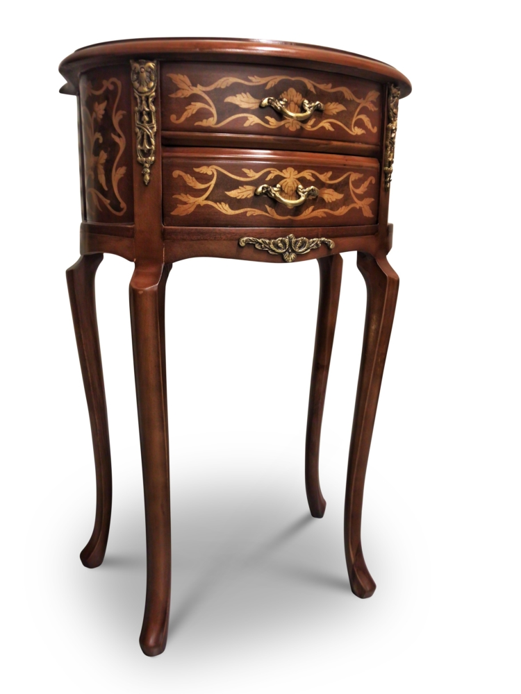 Mélèze, French Style , Marquetry Art , Solid Brass , Commode
