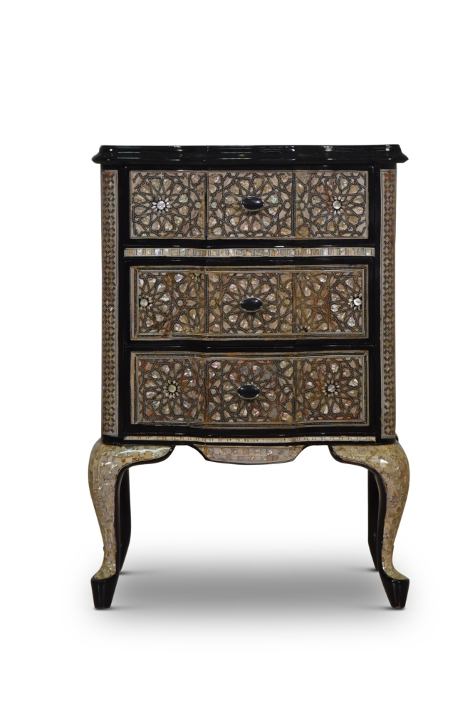 Œillet mignardise, Moroccan Style , Mother Of Pearl Inlay, Chest of Drawers