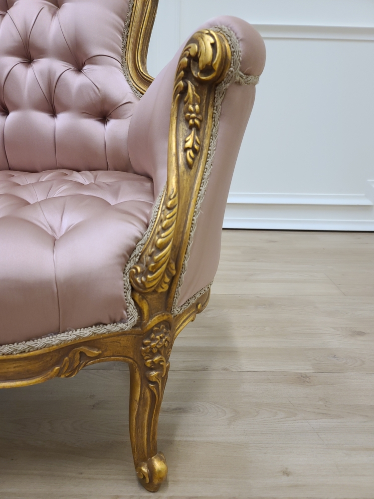 Private listing/French Settee/ pair of crown chairs