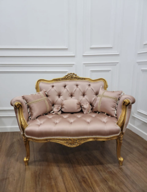 Custom made order / French settee / pair of crown chairs